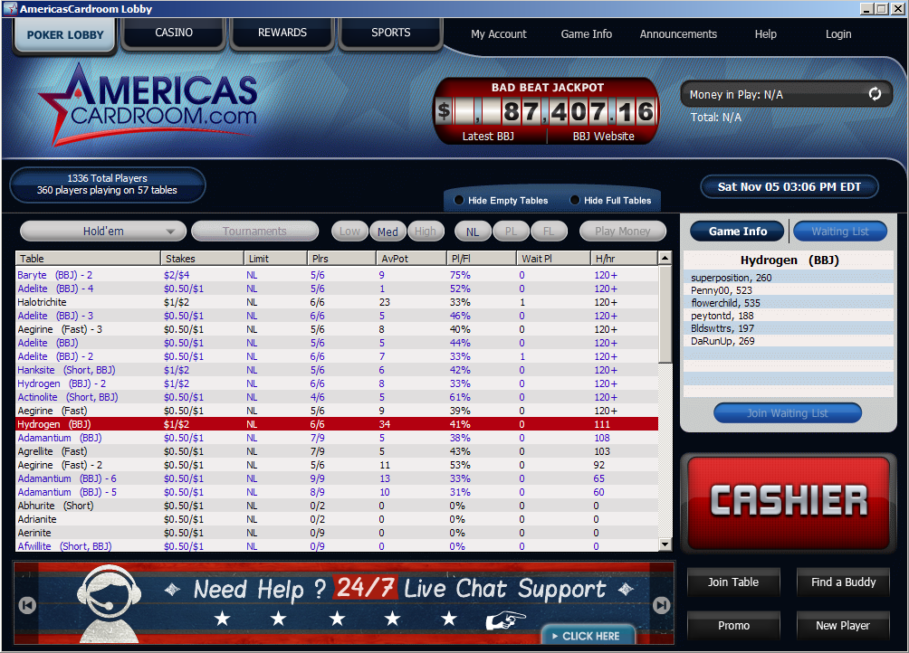 Americas Cardroom Review For 2017 Usa Friendly Amp Fast